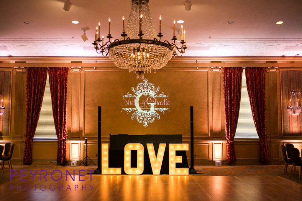 Light Up Love Facade with Blush Uplighting